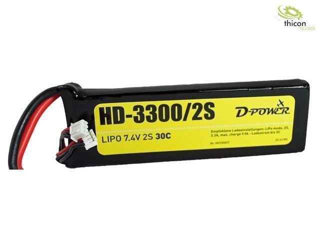 HD-3300 2S Lipo (7,4V) 30C - XT-60 Stecker